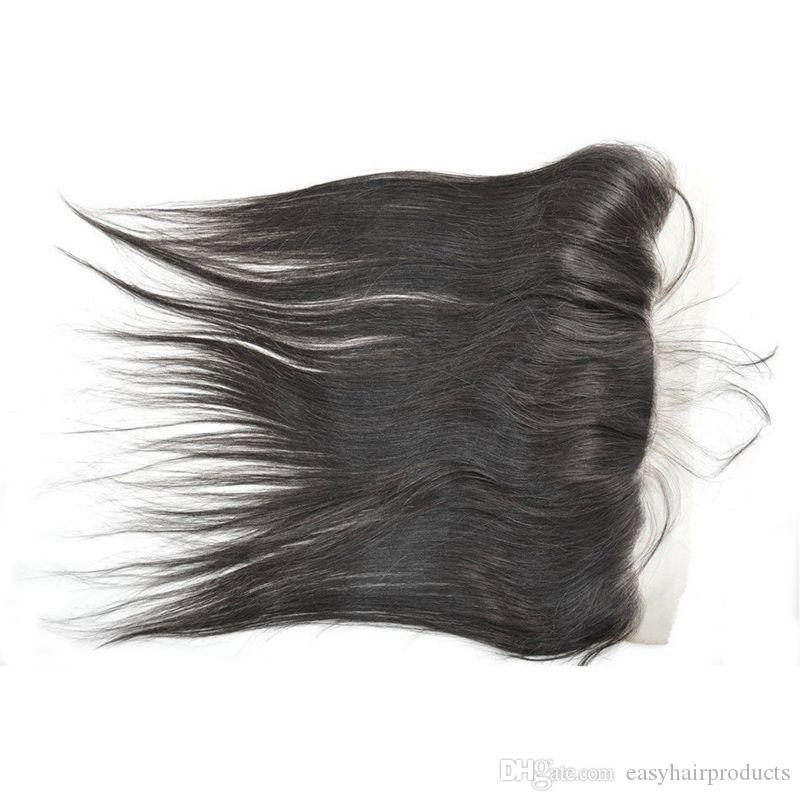 13x4 Silk Lace Frontal With Brazilian Hair Bundles Virgin Unprocessed Human Hair Extensions Brazilian Straight Hair G-EASY