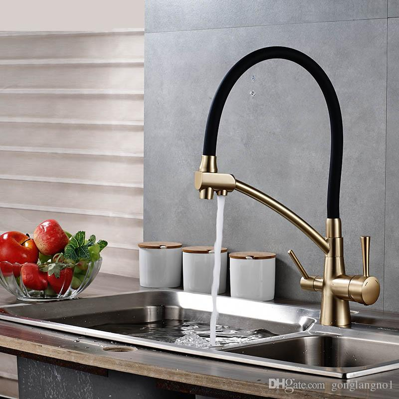 Kitchen Sink Faucet Torneira Purified Water Faucet Dual Handles