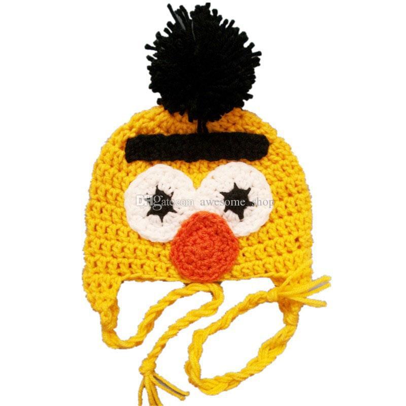 87c9a431f3f 2019 Bert And Ernie Sesame Street Pompom Hat