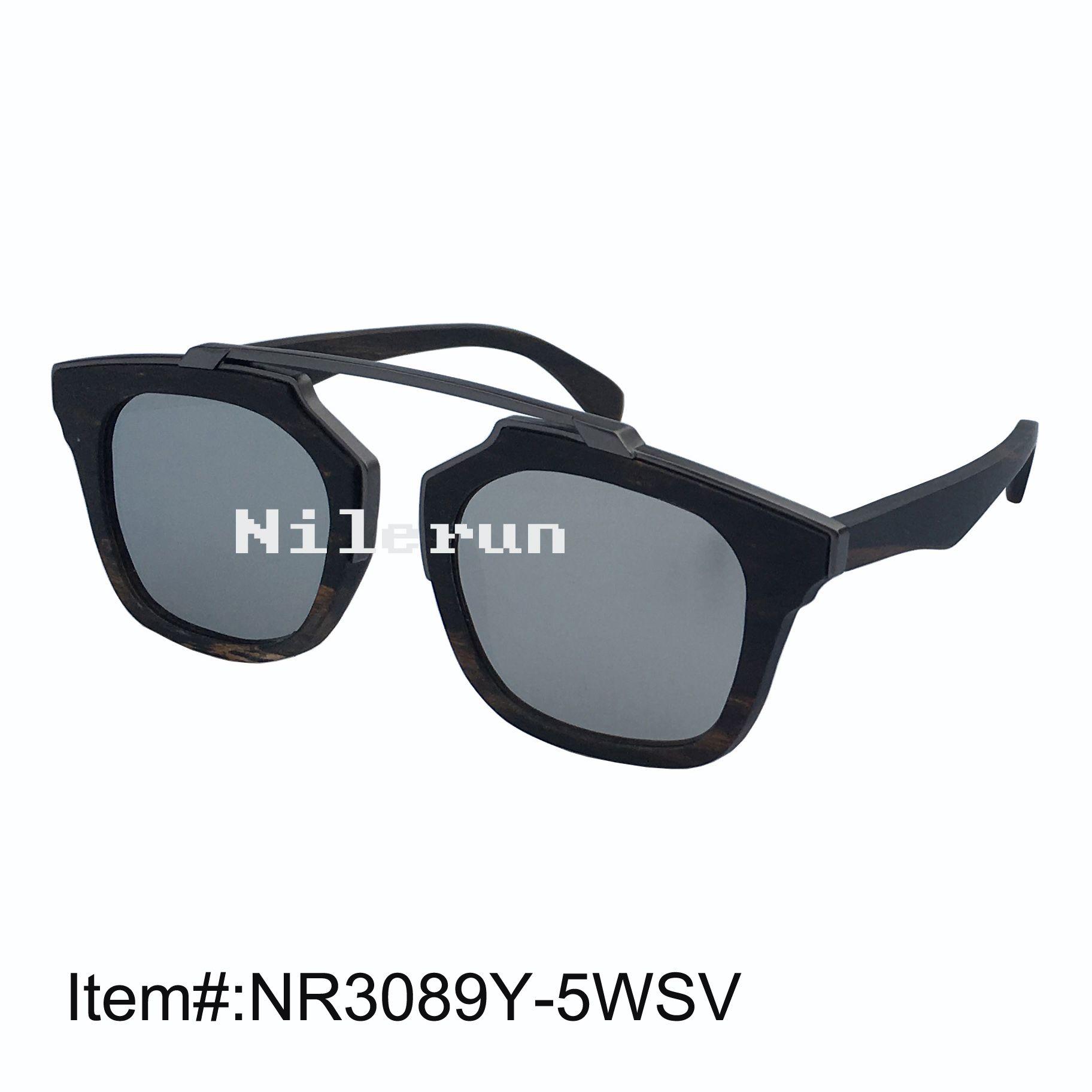 bd425bf13 Compre Nilerun Marca Quadrado Uv400 Espelho Prata Polarizante Lente Metal  Ebony Moldura De Madeira Óculos De Sol De Nilerun, $23.12   Pt.Dhgate.Com