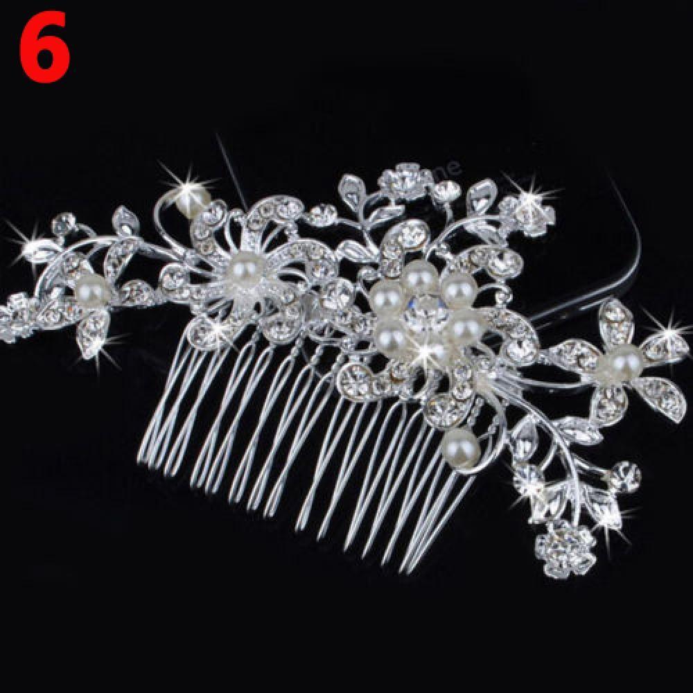 fashionwomen flower hair clip comb pin bridal wedding hair comb