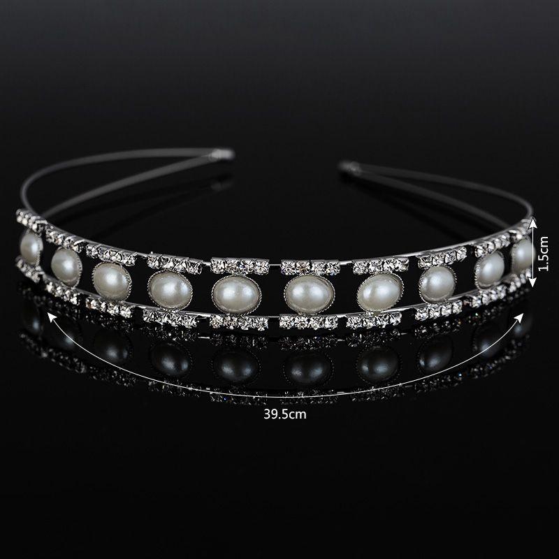 Metting Joura Hochzeitsparty Romantische Birne Perlen Lange Stirnband Haarband Braut Haarschmuck Haarschmuck für Frauen