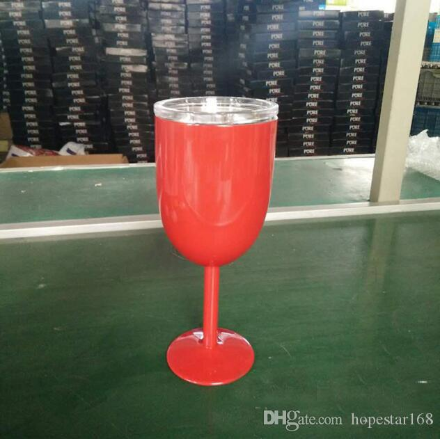 300ML Stainless Steel Wine Glasses Double Wall Insulated Wine Glass with Lids Cocktail Goblet Bar Car Red Wine Mugs Drinkware