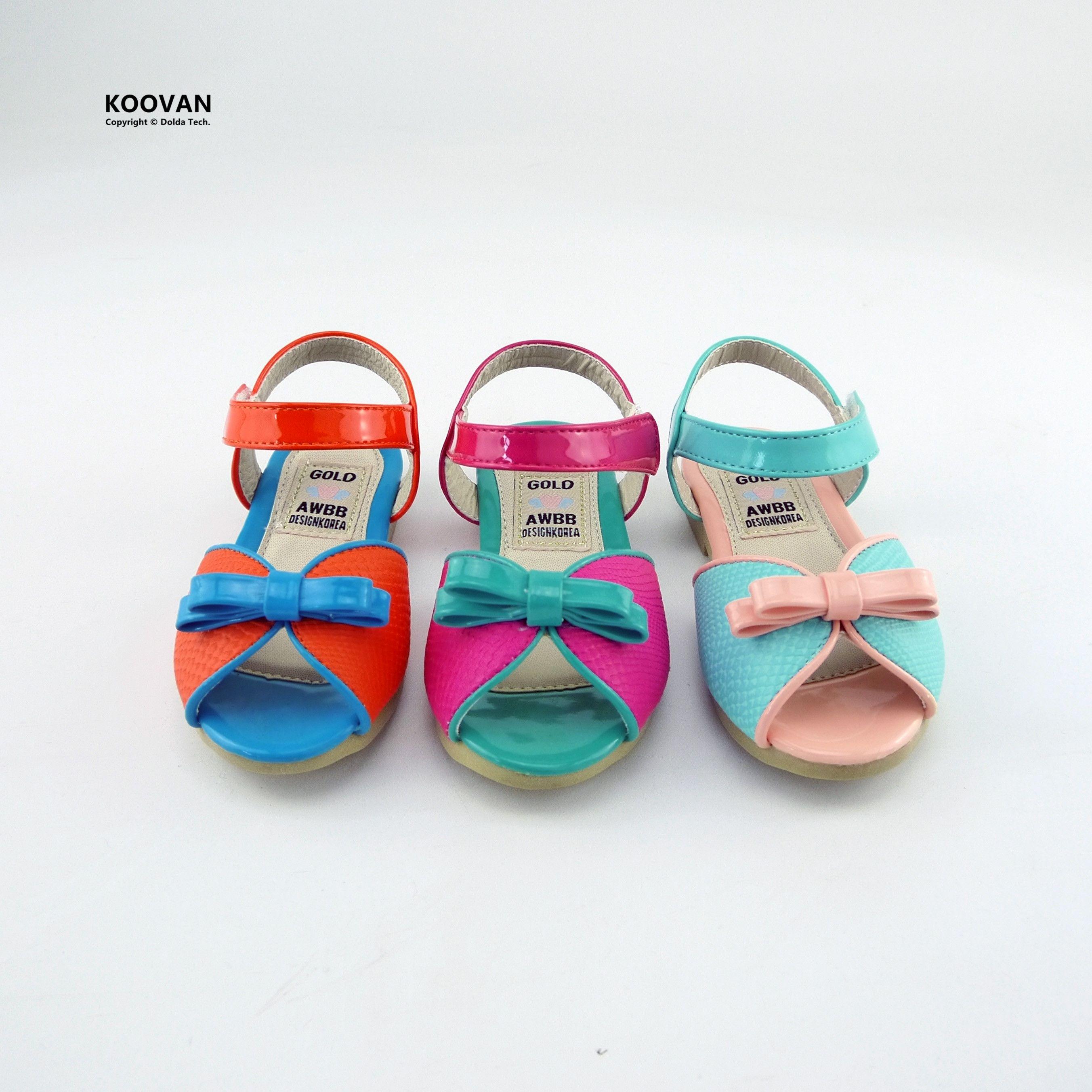 Koovan Children Sandals 2017 Summer Korean Version Leather Bow