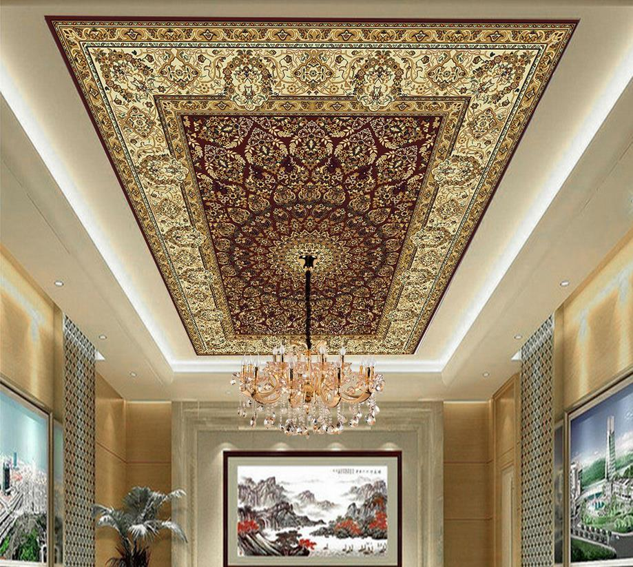 Wholesale Home Decoration Marble Ceiling Murals Wallpaper