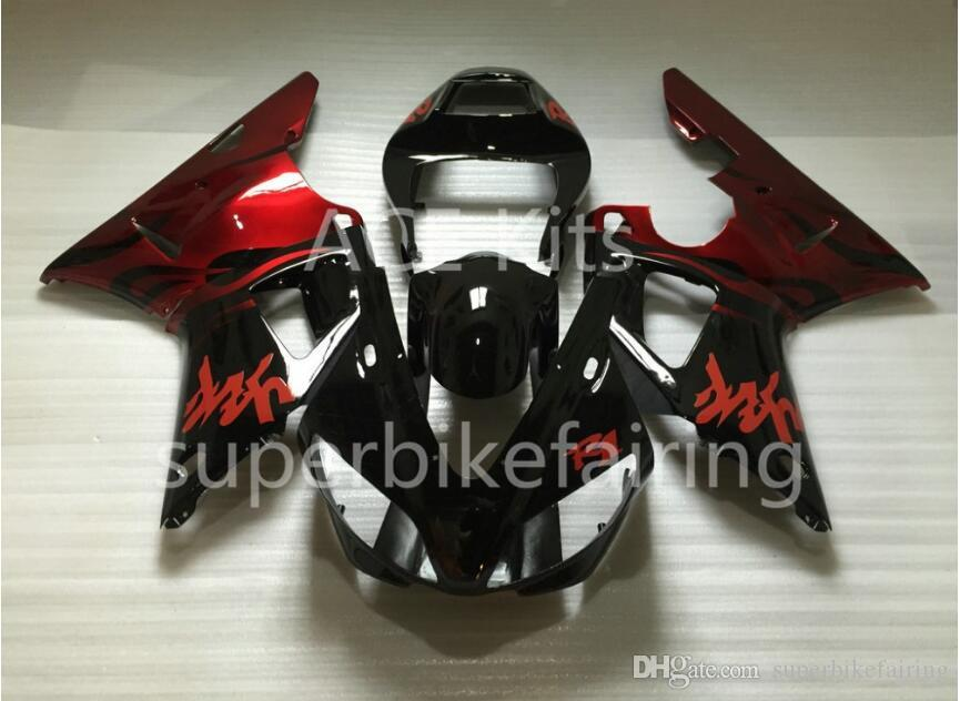 3Gifts New Hot sales bike Fairings Kits For YAMAHA YZF-R1 1998 1999 R1 98 99 YZF1000 Cool Black Red SX9