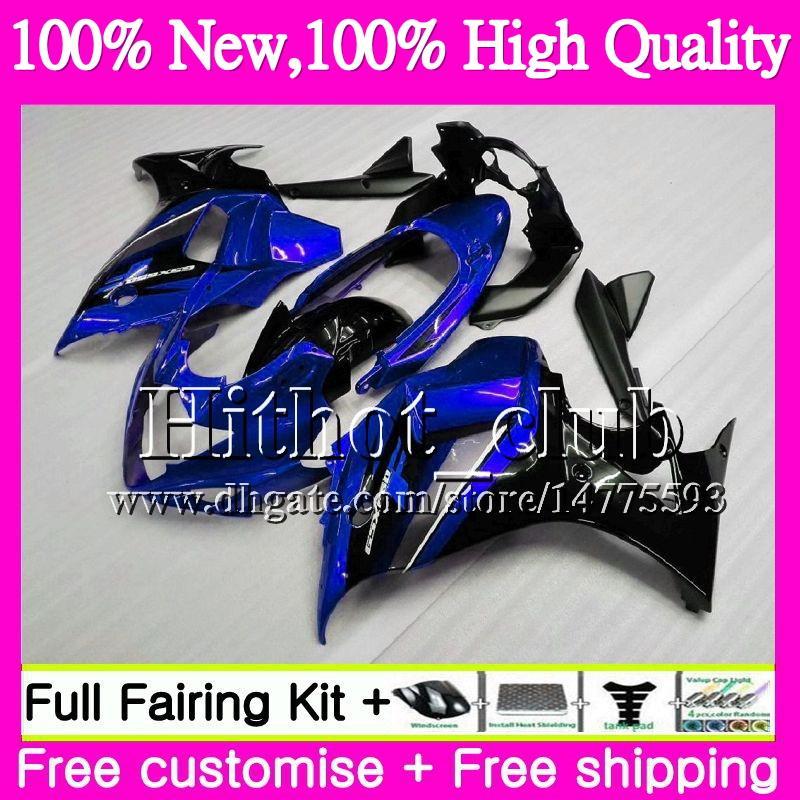Bodys For SUZUKI KATANA GSXF 650 650F GSX650F 08 09 10 11 12 13 32HT19 GSXF650 2008 2009 2010 2011 Blue black 2012 2013 Motorcycle Fairing