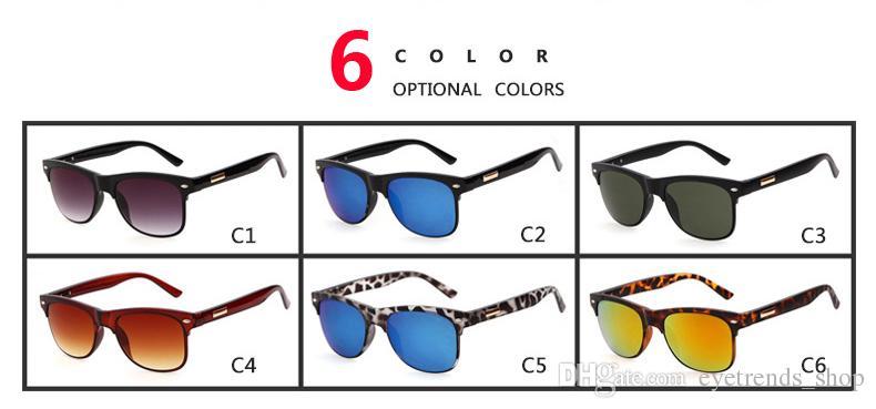2017 new style metal half frame square sunglasses retro brands