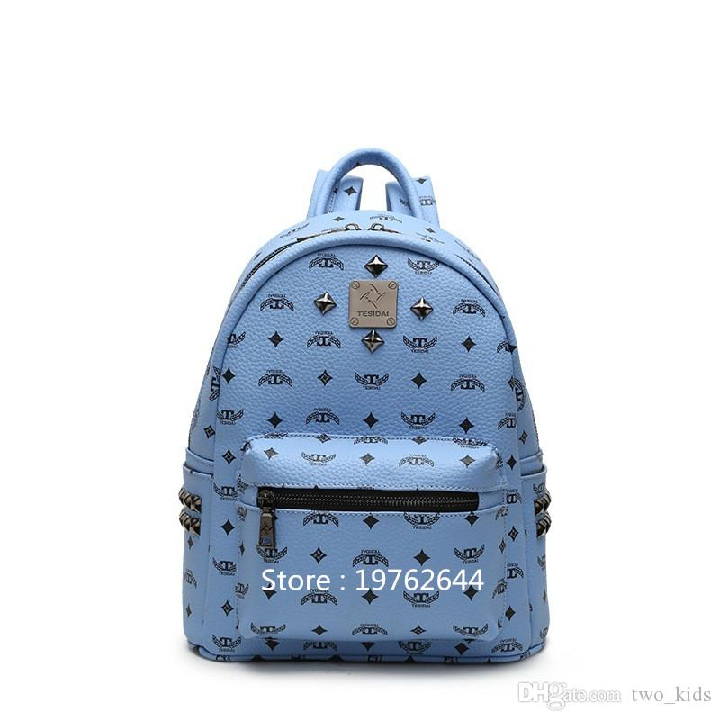 c2af2c1f0d NEW Arrival Preppy Style Students School Bags Rivet Women Backpack ...