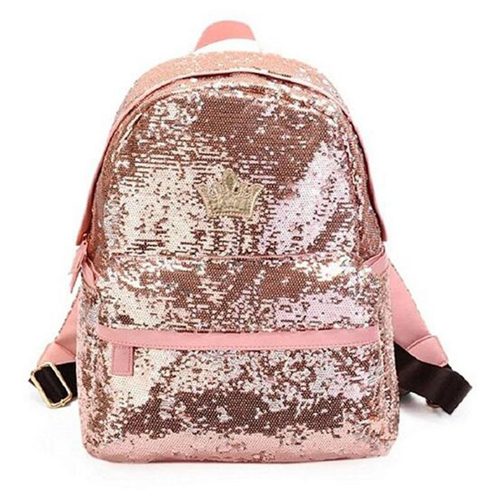 Wholesale- 2017 Womens Fashion Cute Girls Sequins Backpack Paillette  Leisure School BookBags Top Quality P110 Shipping Tags with String Shipping  Boxes with ... eba48b6f00ec3