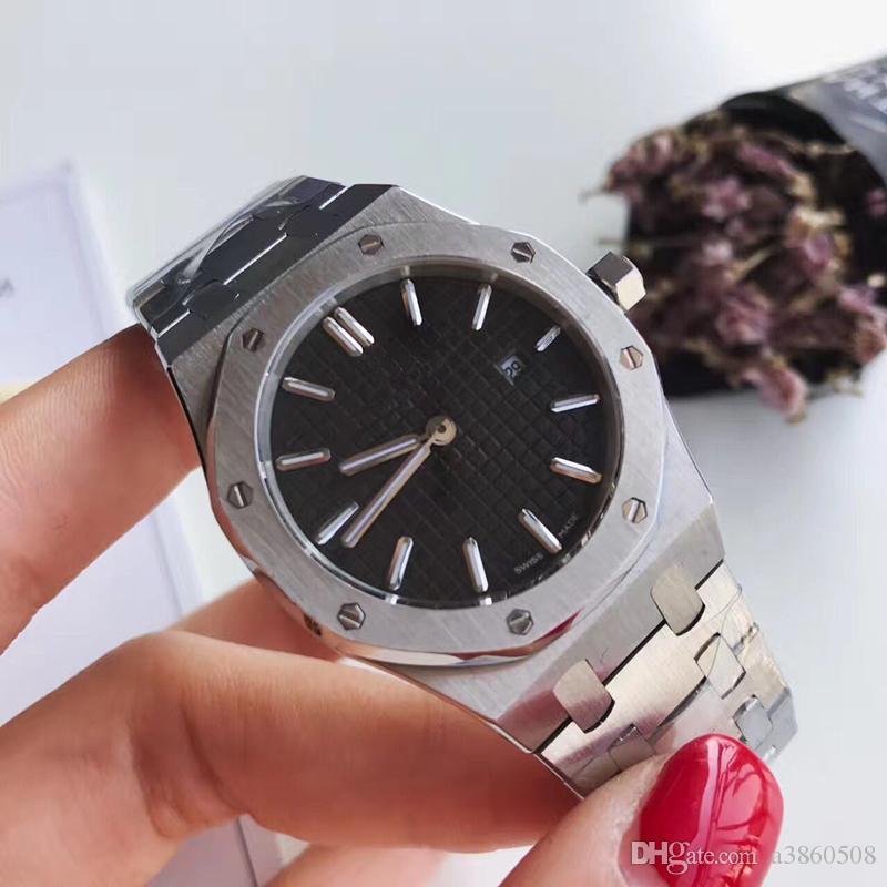 Top femmes Montres 33mm Modèle classique Antique Montres-bracelets de haute qualité Or / Argent inoxydable Diamants Acier Quartz Mode Lady Montres