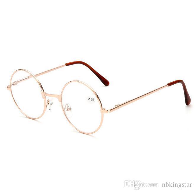0d4da469a50 Fashion Vintage Reading Glasses Men Women Round Metal Alloy Frame Reading  Glasses Great Reading Glasses Latest Reading Glasses From Nbkingstar