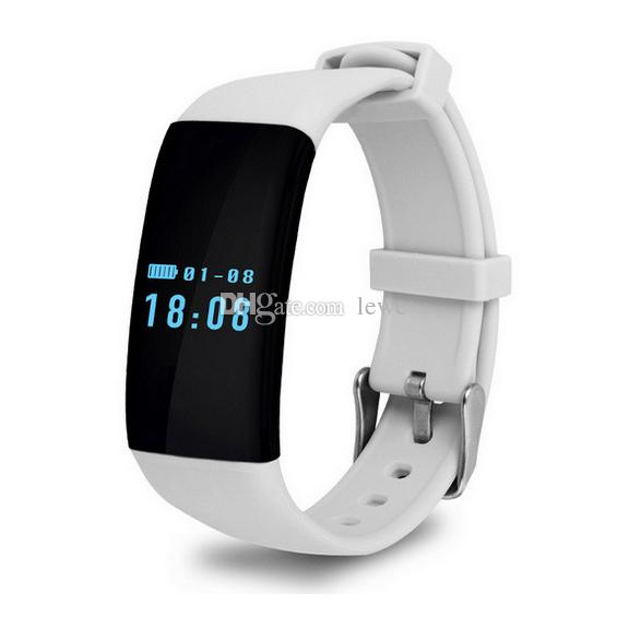 New Brand d21 Smartband wristband smart watch bluetooth wristbands bracelet heart Rate monitor 0.66 OLED Touch Screen for Android iOS