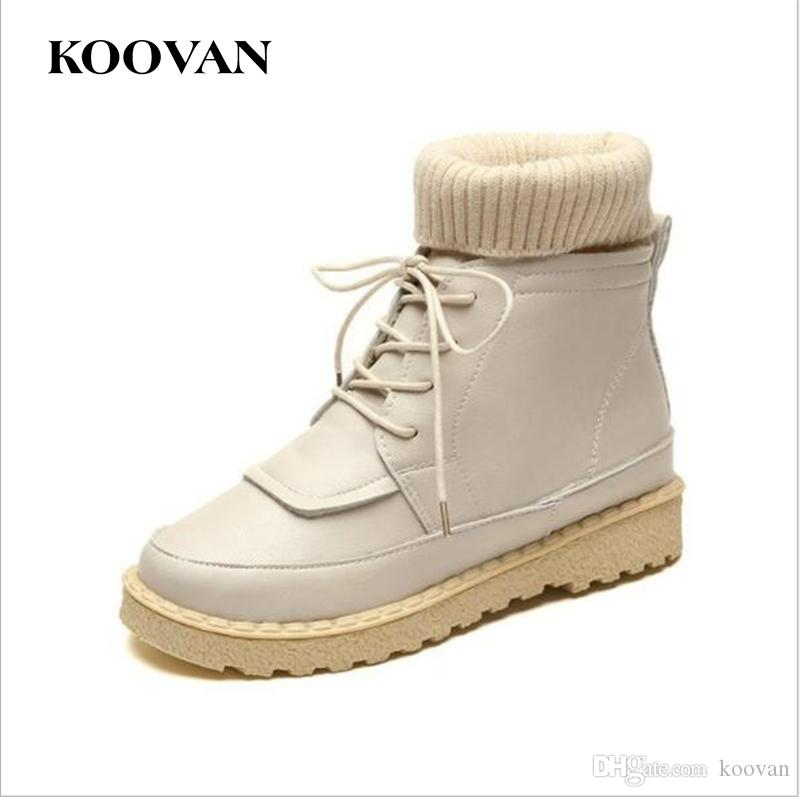 b1841b2c7ad0 Koovan Student High Top Shoes Martin Boots Skateboarding Shoe 2017 Hot Sale  Autumn European Round Toe Boot Flat Bottom Breathable W469 High Top Shoes  ...