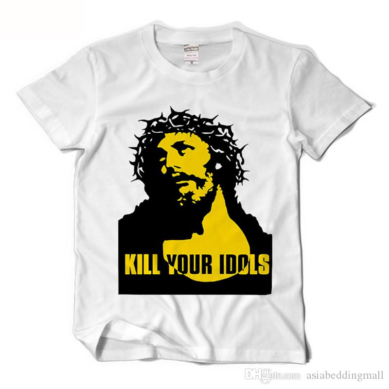 e03bb739b8 Acquista Guns N Roses Alx Rose Stessa Maglietta Da Uomo Kill Your Idols T  Shirt Divertenti Rock Music Camisetas Hombre Mens Manica Corta Tees XS XXL  A ...