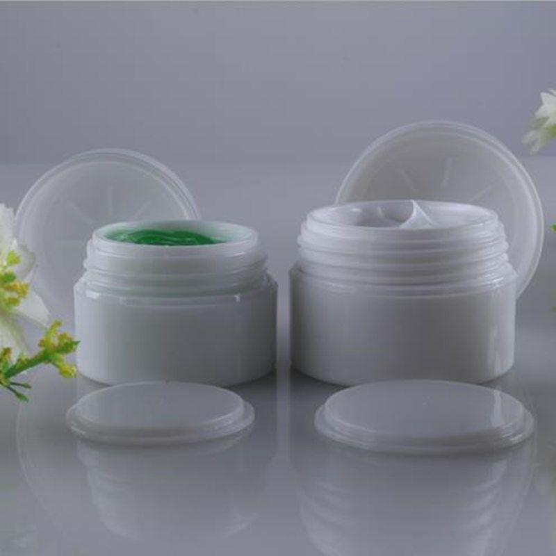 15G COMO Dupla Camada de Frascos Cosméticos Vazios 30 ml para Recipiente Plástico de Creme com Tampa transporte rápido F20171036