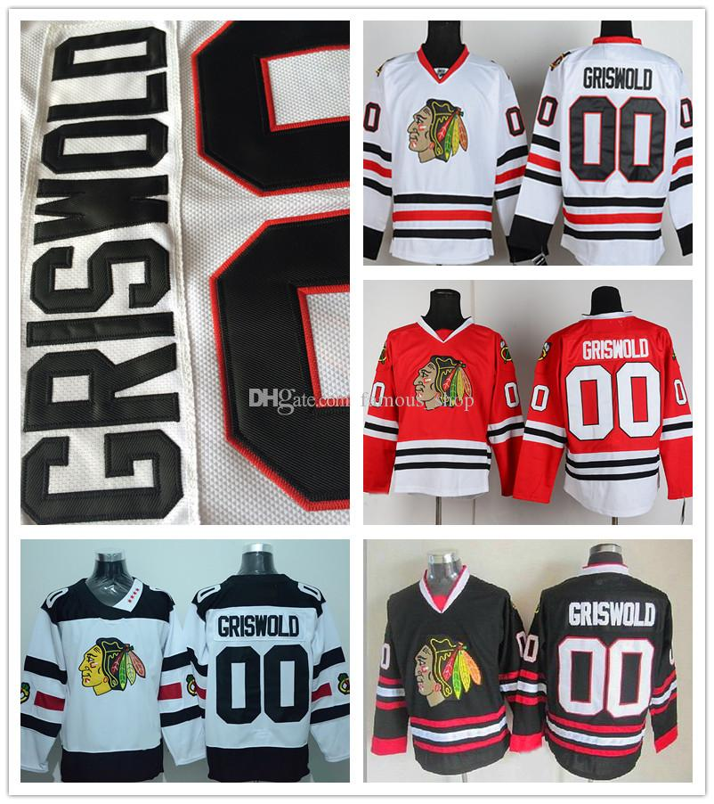 479f350d293 Hover over image to 2017 Wholesale Mens Chicago Blackhawks 00 Clark  Griswold Jersey Cheap Red Green Black White Stadium Series ...