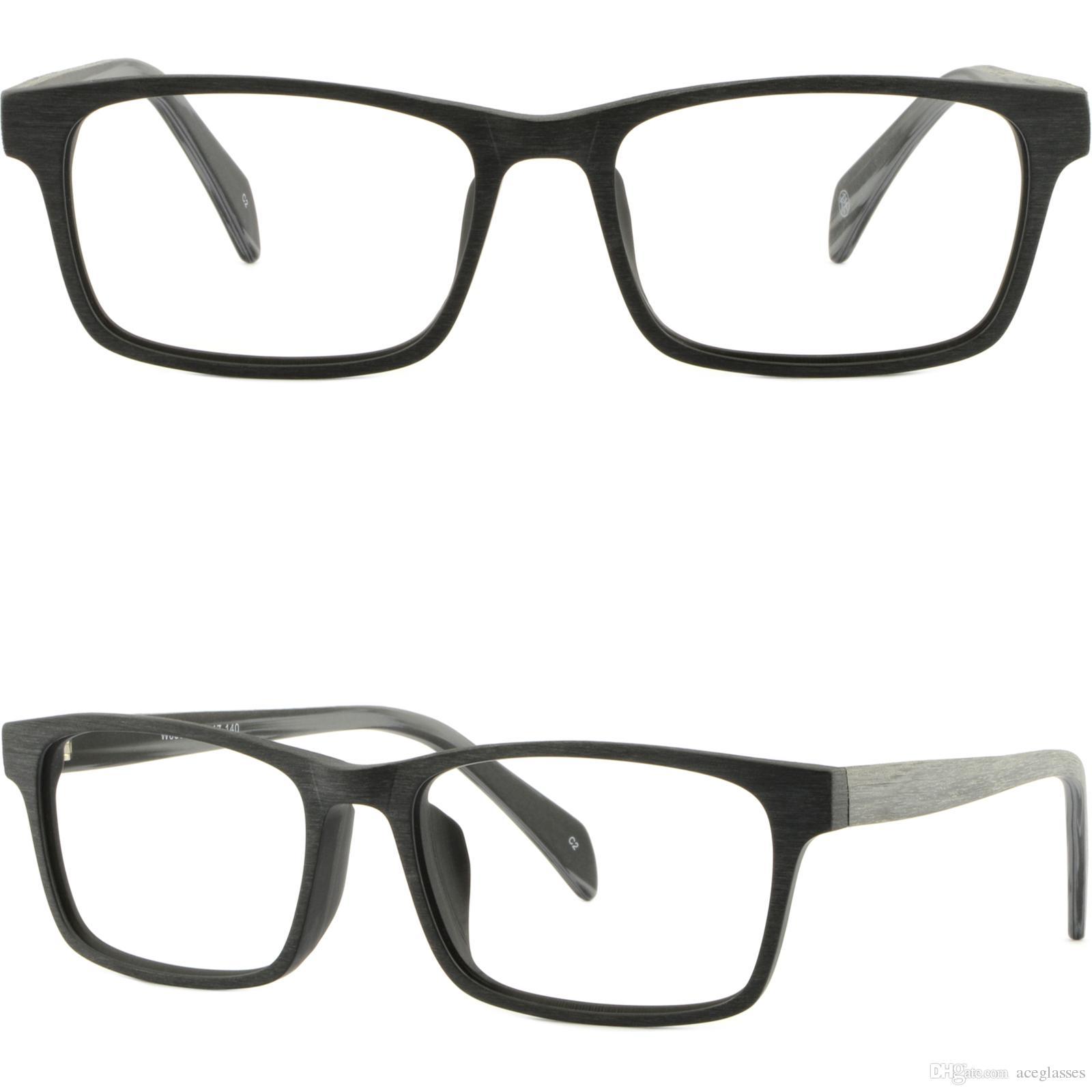 ce3bdb3a020 Brillenfassung Light Men S Women S Frame Plastic Glasses Eyeglasses  Rectangle Acetate Black Wood Imitation Brand Name Eyeglass Frames Carolee  Eyeglass ...