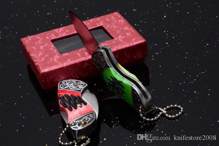 Mini-Schneidwerkzeug 440 Klinge Stahl und Knochen Griff Drop-Point Klapptasche OEM EDC Taktisches Messer Rettungsmesser Neu in Originalverpackung