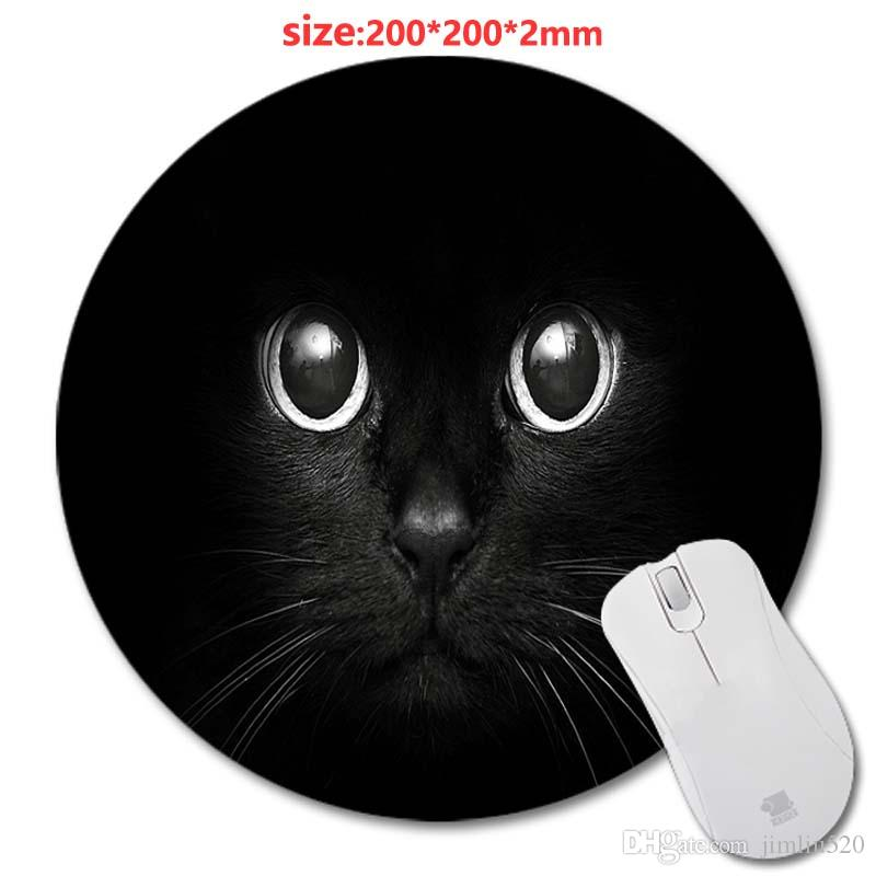 sell circular animal cat design print wholesale new round mouse pad