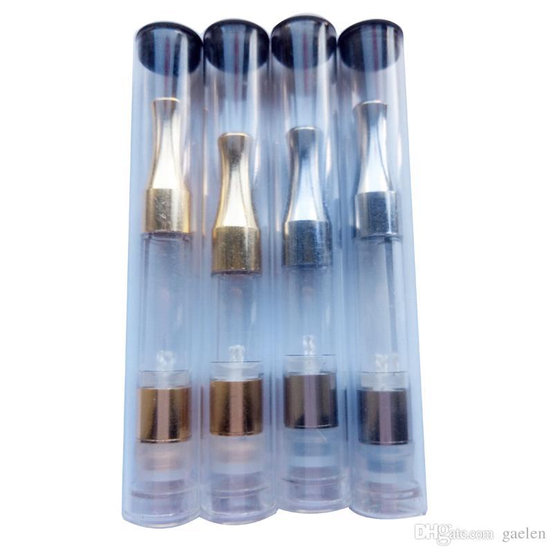 Cartouche G2 Embouts en métal chromé clair Tube en plastique de qualité alimentaire 0.3ml 0.5ml 0.8ml Cartouche d'huile de cire G2 Cartouche en métal CE3