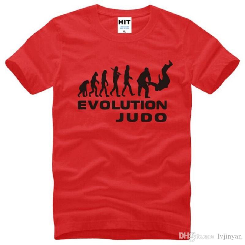 Summer Style Evolution Of Judo T Shirts Men Cotton Short Sleeve Ape Evolution Printing Men's T-Shirt Fashion Male Sport Top Tees
