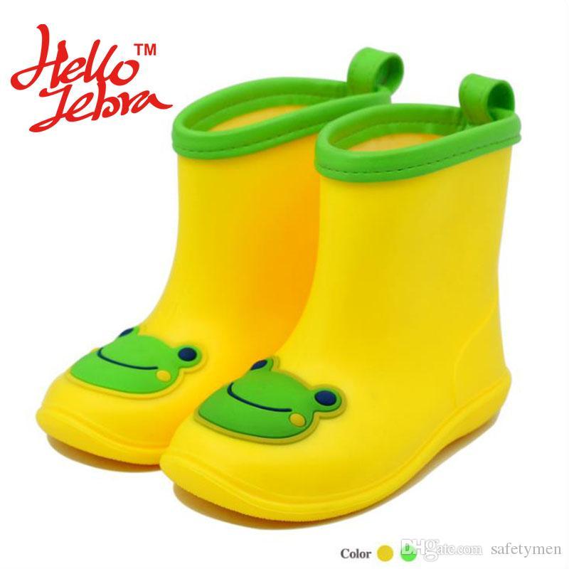 2018 children cartoon frog rain boots kid boys girls babies candy