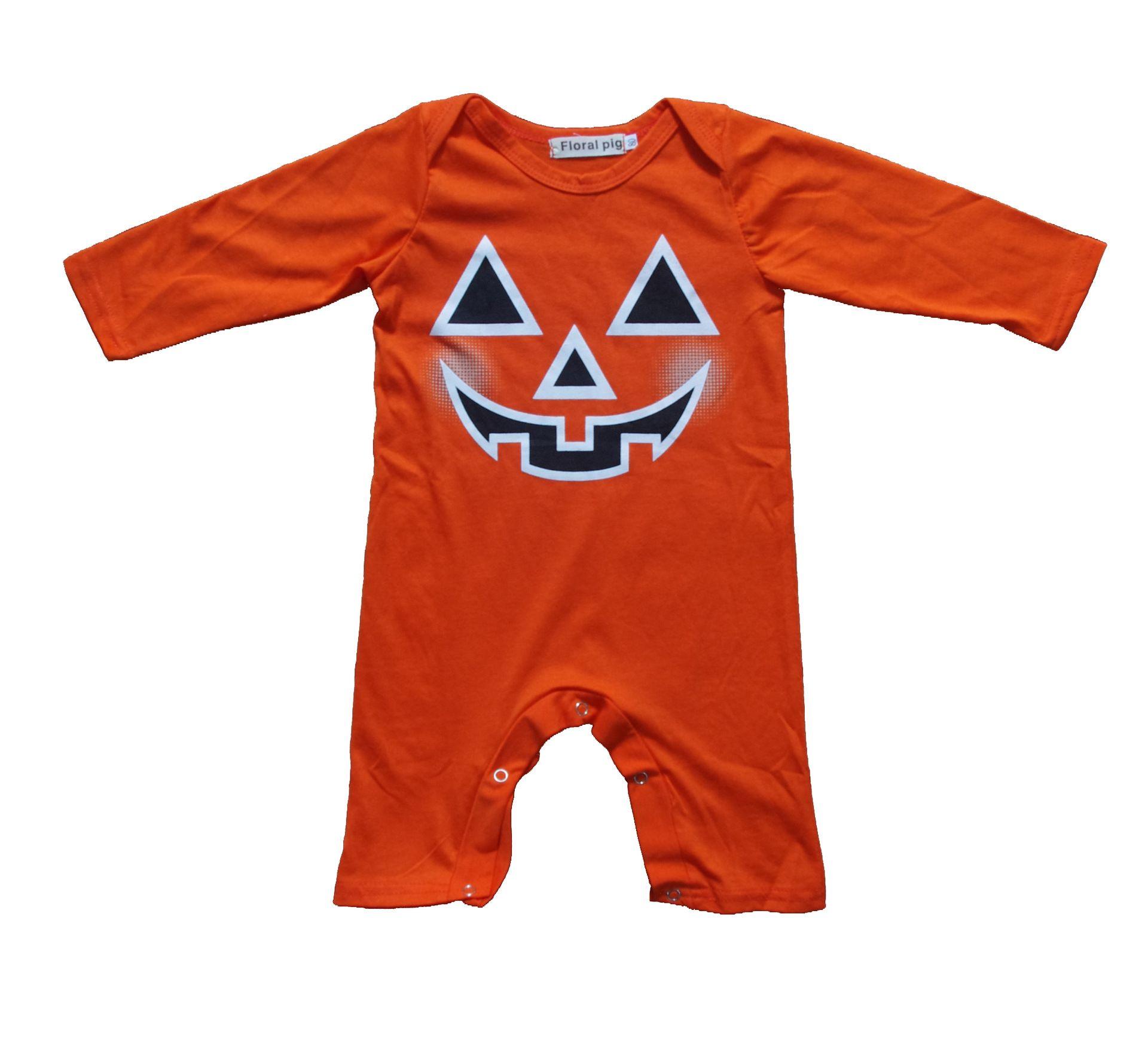 2018 newborn toddler halloween romper infant pajamas christmas bodysuit baby boys girls long sleeve jumpsuits babies autumn clothing t0429 from summervivi