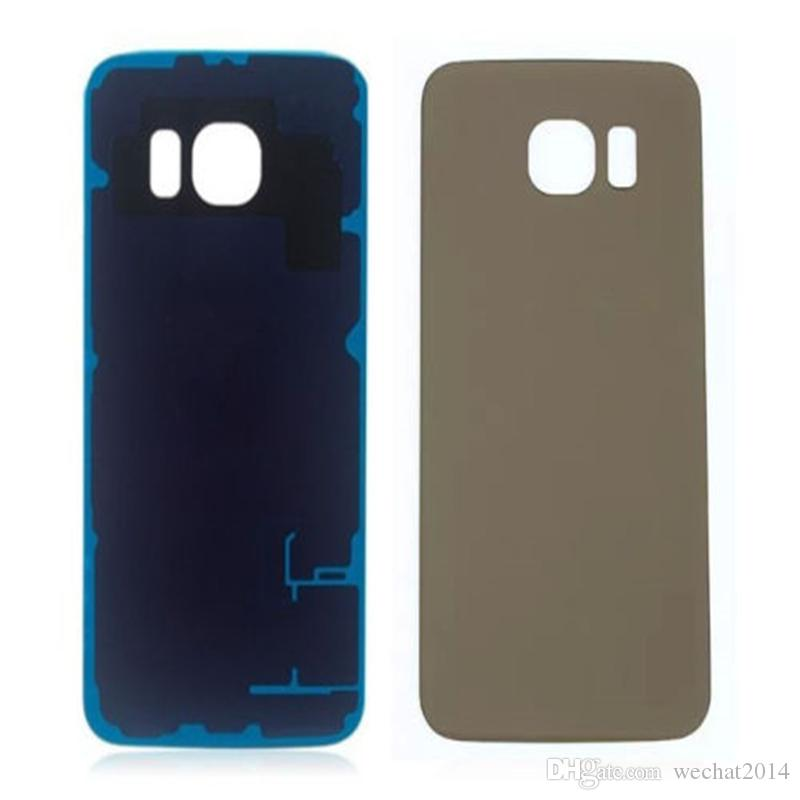 Battery Back Housing Cover Glass Cover For Samsung Galaxy S6 G9200 S6 Edge G9250 with Adhesive free DHL