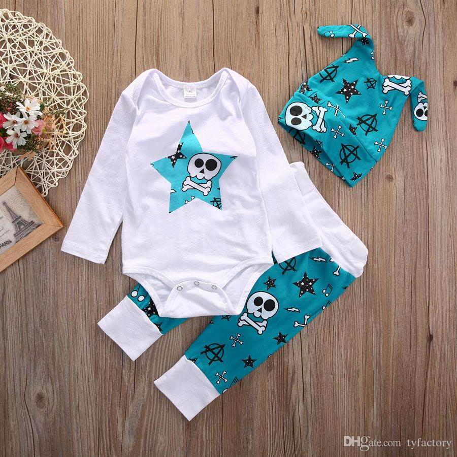 2016 Newborn Infant Baby Girls Boys Clothes suits Tops long sleeve stars printed Shirts+Long Pants fashion sets Legging casual top suit