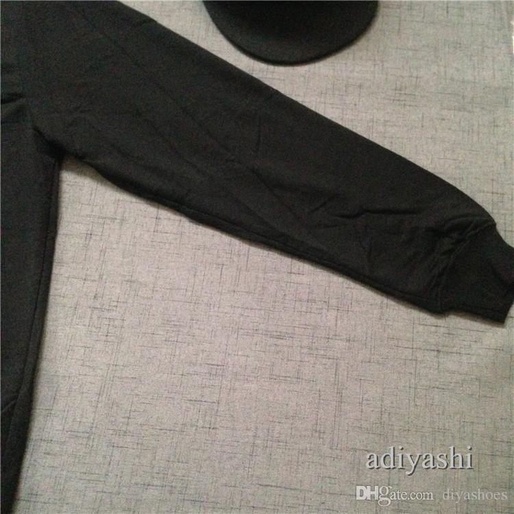 2018 Outono e Inverno nova chegada moda distinta especial hip hop dos homens t-shirt de manga longa boa qualidade plus size xxl 100% algodão impressão