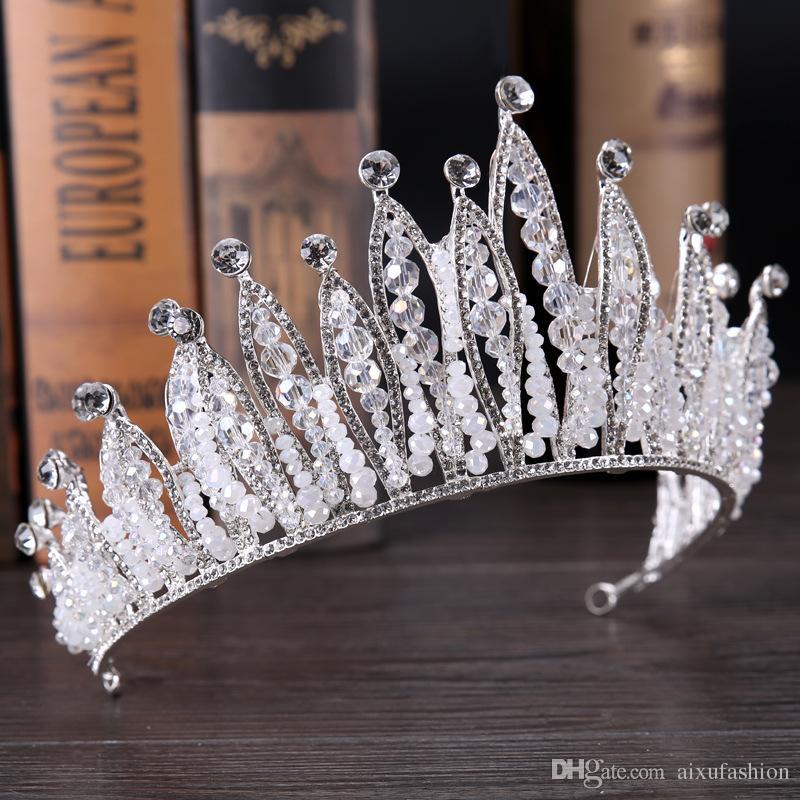 2019 935cm Hot Women Crown Wedding Coroa Noiva Tiara Retro Wedding