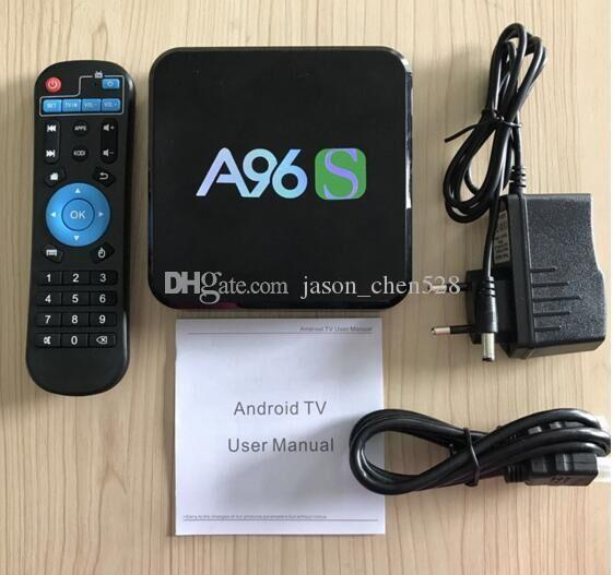 A96S Android TV Box Amlogic S905X Quad Core Android 6.0 Marshmallow 2GB+8GB HDMI 2.0 2.4G WIFI 4K Miracast Set Top Box
