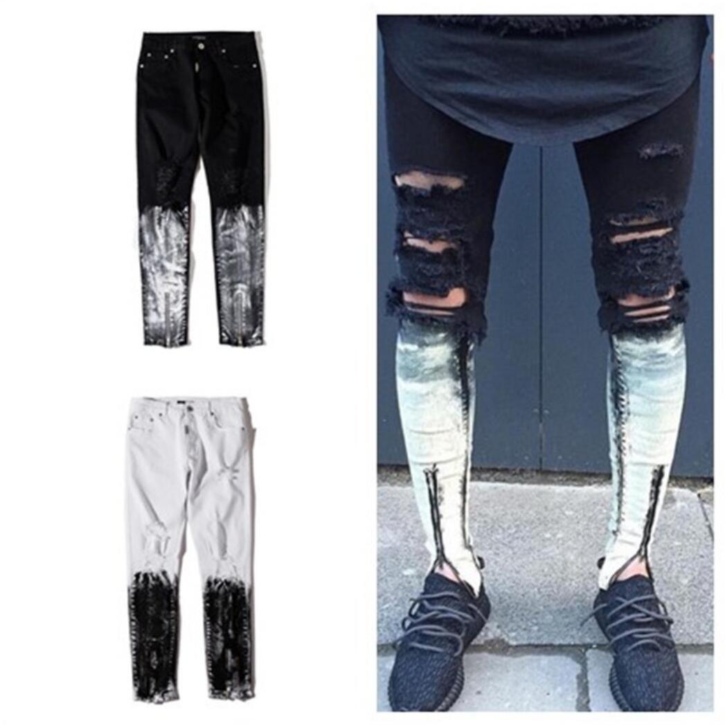f967634add5e9 2019 2017 Newest Fashion Tie Dye Hole Destroyed Mens Slim Denim Straight  Biker Skinny Jeans Men Ripped Jeans From Haoyunlai2017