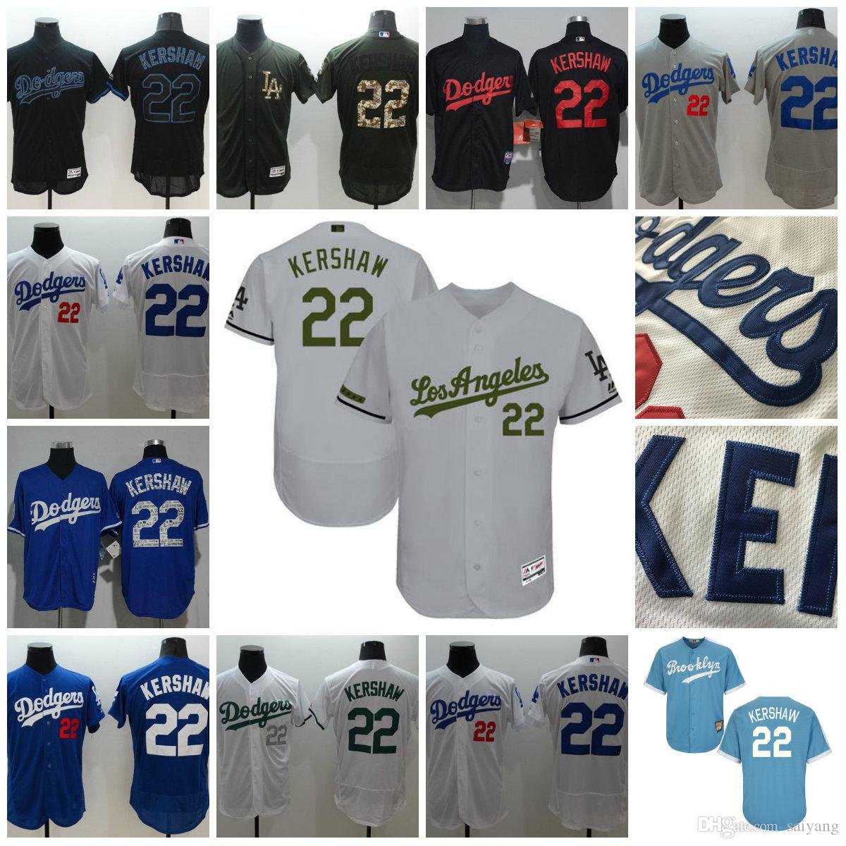 reputable site 966ff 8582a 22 clayton kershaw jersey