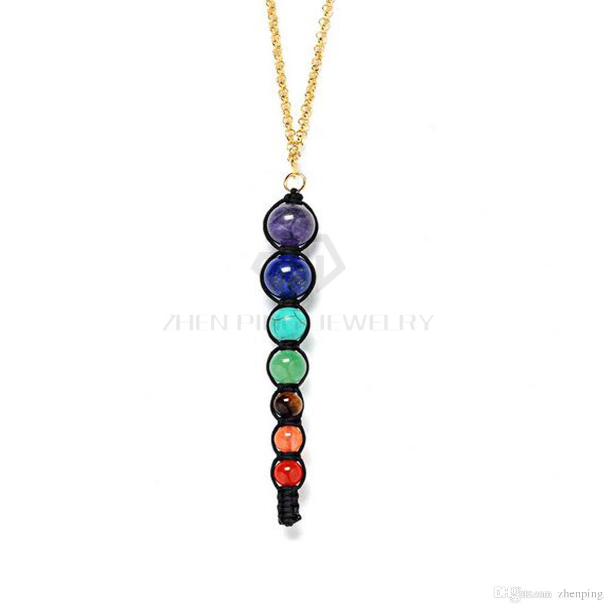 Free Chains Chakra Pendants 6mm 8mm 10mm Round Ball Necklace Shamballa Pendant Chakra Jewelry Pendants
