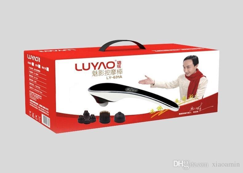 LUYAO elétrica Vértebra cervical dispositivo massageador Vibrando amassar ombro de volta pescoço massageador infravermelho shiatsu Corpo Relaxamento