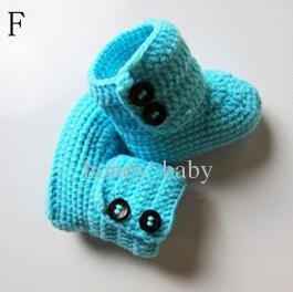 Crochet baby boys girls princess soft winter booties newborn infant toddler kids booties prewalker boots kids first walker shoes cotton yarn