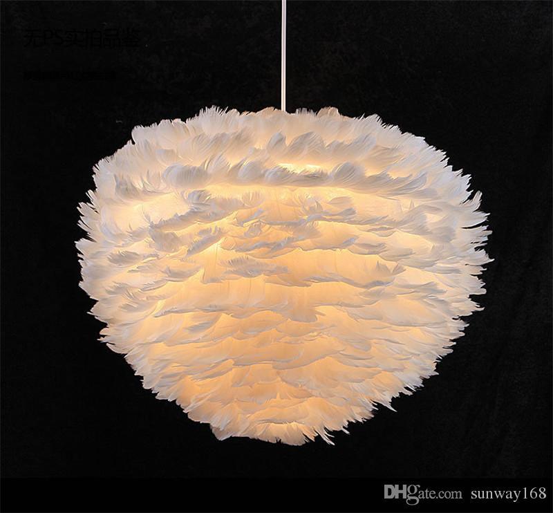 Led Feather Ball Pendant Lamp Meteor Rain Ceiling Light Meteoric