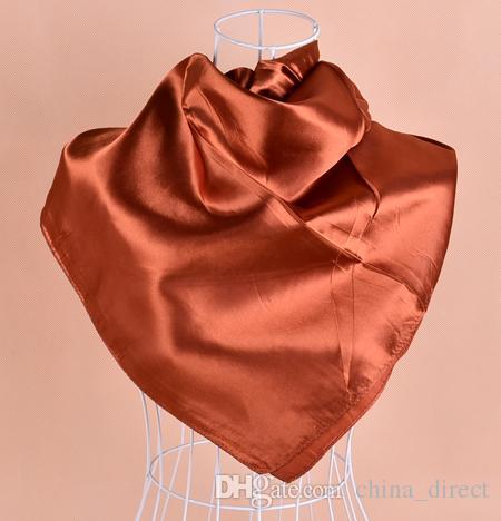 Massief Satijn Royan Silk Hijabs Square Sjaal, Neckscarf Sjaals 90 * 90 cm / # 2086