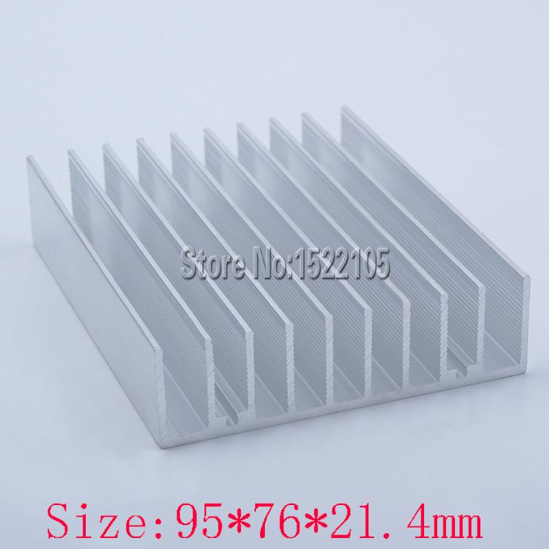 Wholesale- Heatsink 95x76x21.4mm Aluminum heatsink heat sink radiator for Electronic cooling Ex-factory price