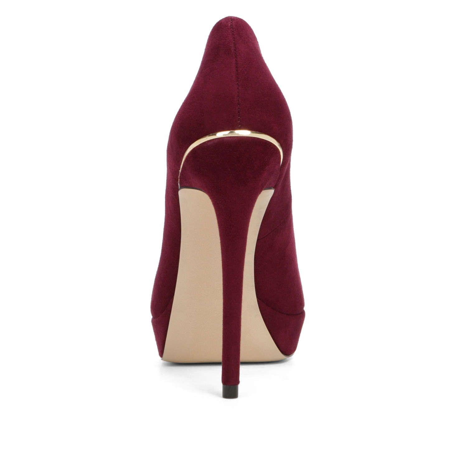 Zandina Womens Fashion Sexy Handmade High Heel Peep Toe Platform Multicoloured Stiletto Slide Bridal Pumps Shoes Darkred