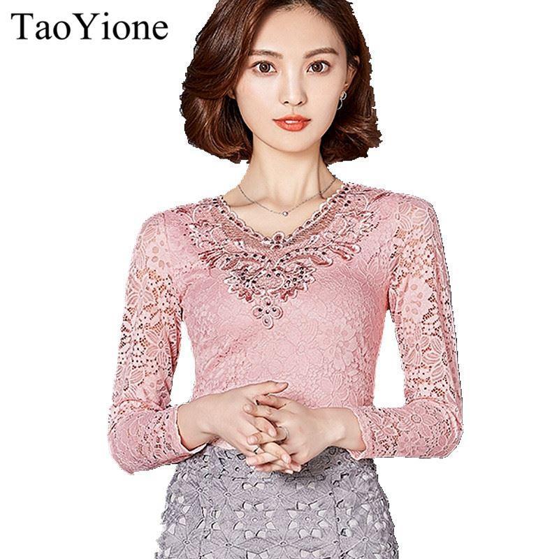 b1d1be90d Compre Novas Mulheres Blusas Verão Lace Chiffon Blusa Camisa Feminina Blusas  Tops Moda Chemise Femme Camisa Elegante Plus Size Rosa Branca 17606 De ...