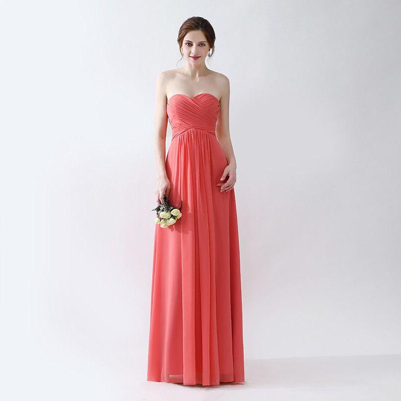 Simple Elegant Orange A Line Prom Dresses Vestidos De Noiva Chiffon ...