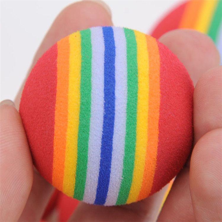 Диаметр 35 мм Интересная домашняя игрушка собака и кошка игрушки супер милая радуга мяч игрушка мультфильм плюшевая игрушка IA602