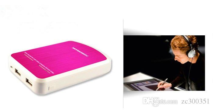 High-End Power Bank 12000mah Бесплатная Доставка экспорта, двойные USB, Светодиодные фонари, Универсальный запасной аккумулятор для хранения 18560