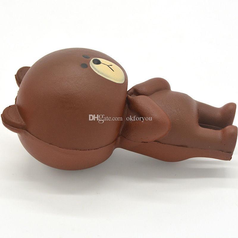 Squishy 12CM Rilakkuma Bear Jumbo Kawaii Cute Cartoon Slow Rising bread Soft Squishies Scented Cake bun Sweet Charm Squeeze Kids Toy Gift