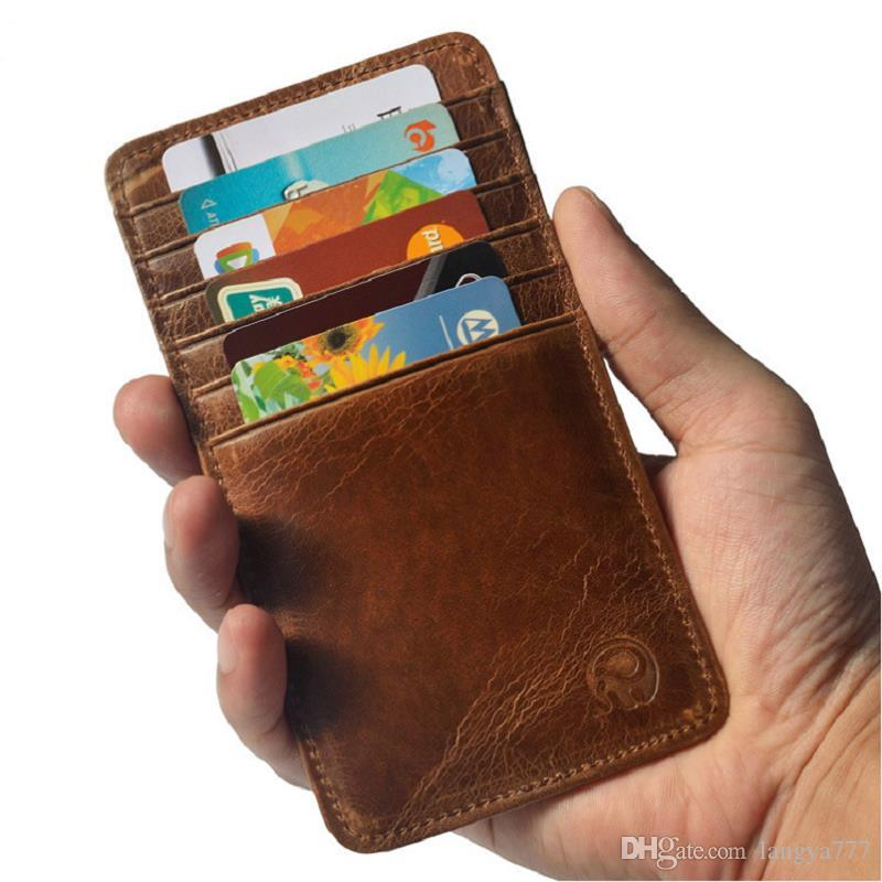 men cowwide mini money clip card holder leather 12 holders credit card bag styles a338 ladies wallet cute wallets from langya777 262 dhgatecom - Money Clip Credit Card Holder