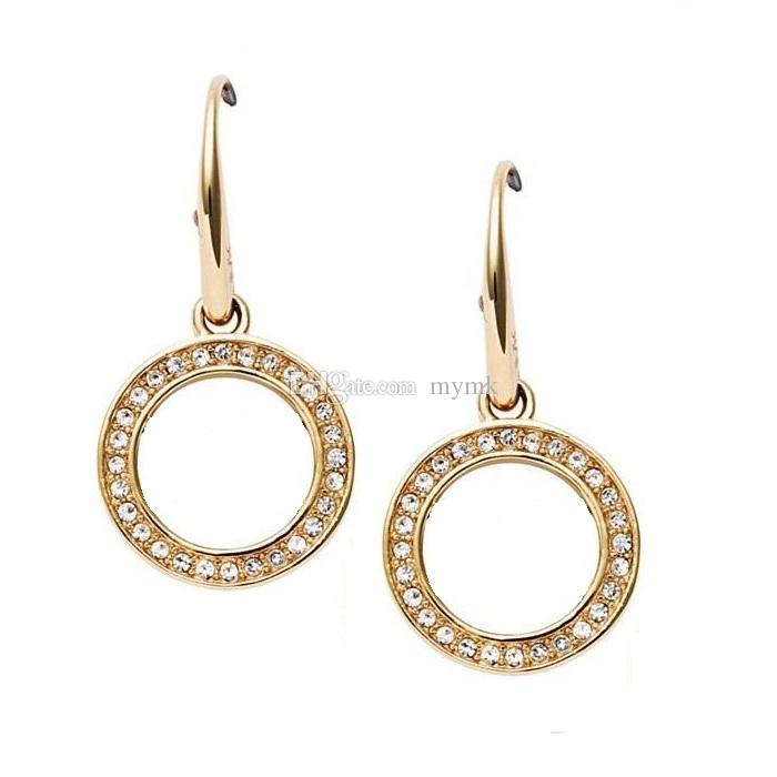1b9246089 2019 New York Fashion Brand Drop Earrings Crystal Hoop Earings Brand Jewelry  Wedding Jewellery For Women Girls Silver/Gold/Rose From Mymk, $1.38 |  DHgate.