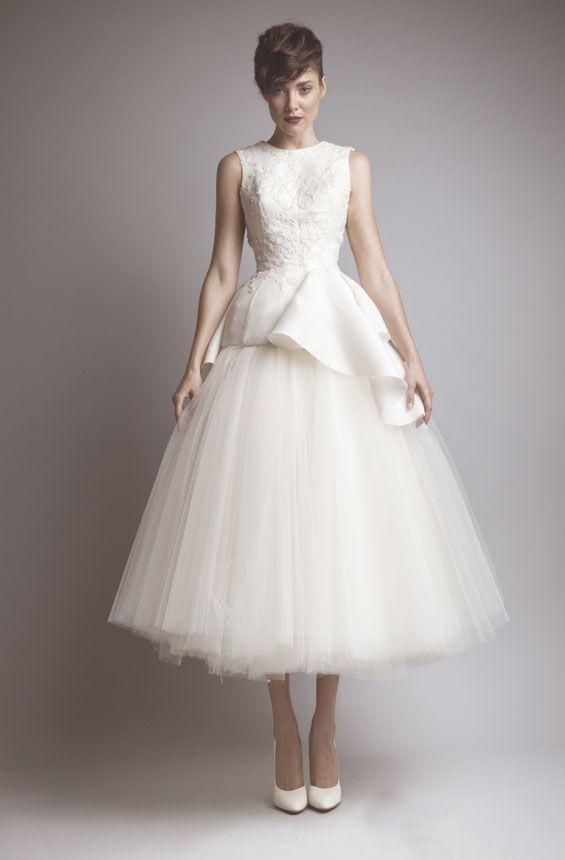 Elegant A-Linie Tee Länge Brautkleider Jewel Neck Sleeveless geöffnete zurück mit Applikationen Brautkleider
